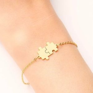 Gorgeous Puzzle Stainless Steel Bracelet